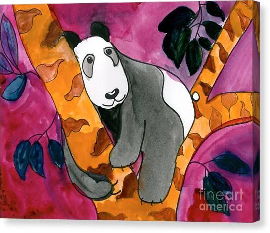 Panda Canvas Print - Panda by Roxanne Hanson Age Eleven
