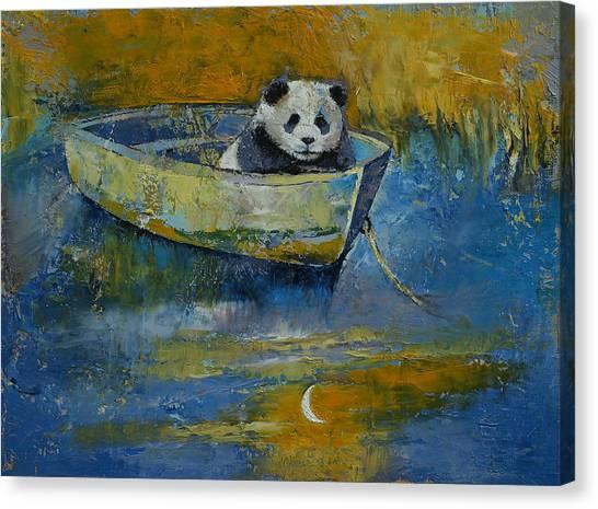 Luna Canvas Print - Panda Sailor by Michael Creese