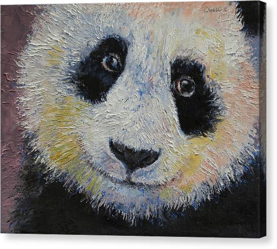 Panda Canvas Print - Panda Smile by Michael Creese