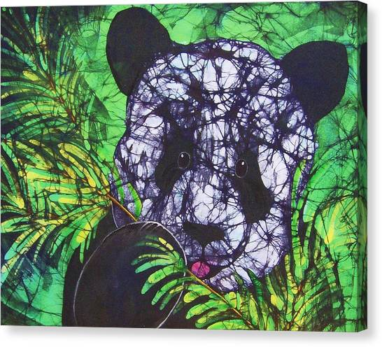 Panda Snack Canvas Print