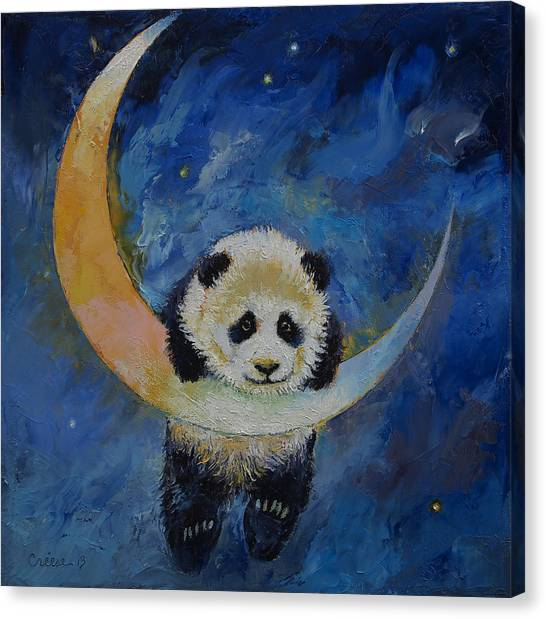 Panda Canvas Print - Panda Stars by Michael Creese