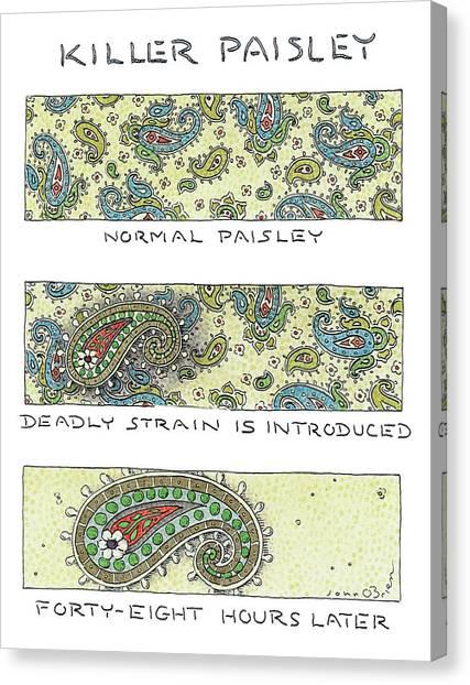 Fabric Canvas Print - Panels Show The Progressive Development by John O'Brien
