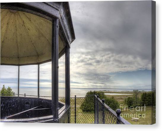 Paninsula Point Lighthouse Lantern Room Canvas Print by Twenty Two North Photography