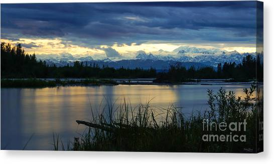 Pano Denali Midnight Sunset Canvas Print