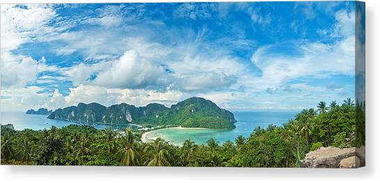 Phi Phi Island Canvas Print - Panorama   Koh Phi Phi Don   Thailand by Xavier Hoenner Photography