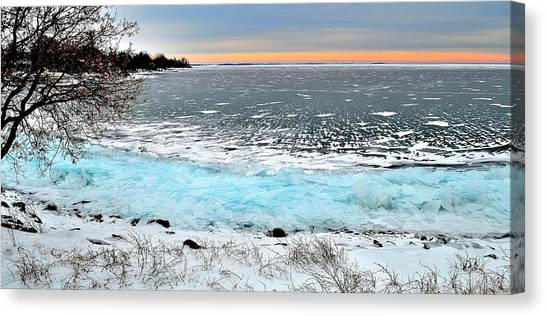 Panorama Freeze - Horsey Bay - Kingston - Canada Canvas Print