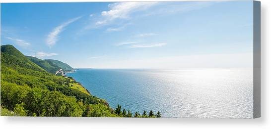 Cabot Trail Canvas Print - Panorama Of A Coastal Scene On The Cabot Trail by Vadim Petrov