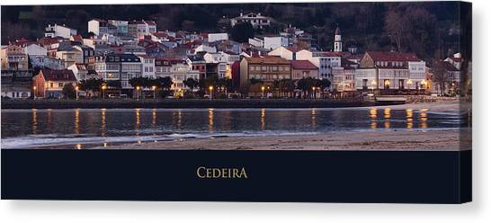 Panorama Of Cedeira Galicia Spain Canvas Print