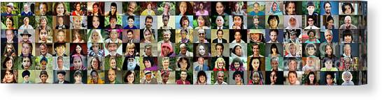 Panorama Of Diverse Faces Canvas Print
