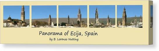 Panorama Of Ecija Spain Canvas Print