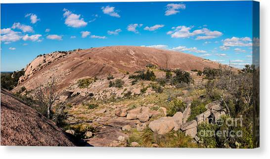 Panorama Of Enchanted Rock State Natural Area - Fredericksburg Texas Hill Country Canvas Print