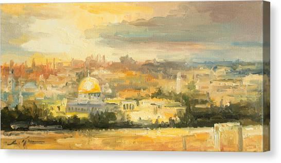 Panorama Of Jerusalem Canvas Print