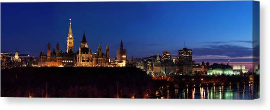 Parliament Hill Canvas Print - Panorama Of Parliament Hill, Ottawa by Naibank