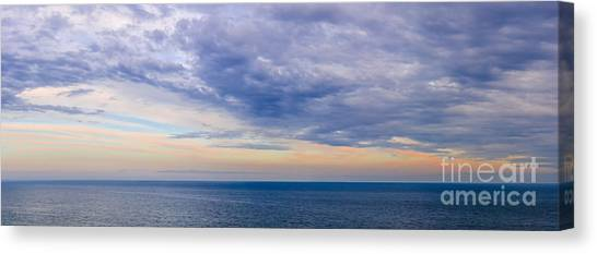 Ocean Sunsets Canvas Print - Panorama Of Sky Over Water by Elena Elisseeva