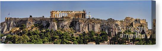 The Acropolis Canvas Print - Panorama Of The Acropolis In Athens by David Smith