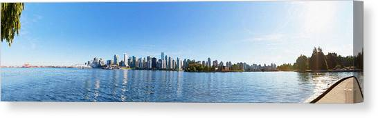 Panorama Of Vancouver Harbor Canvas Print