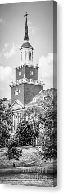 University Of Cincinnati Canvas Print - Panorama University Of Cincinnati Vertical Picture by Paul Velgos