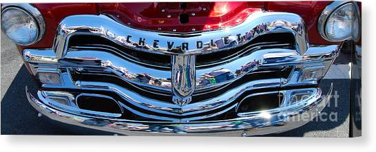 Panoramic Chevy Grill Canvas Print