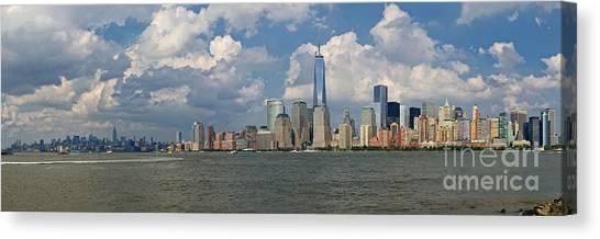 Panoramic Of New York City Canvas Print