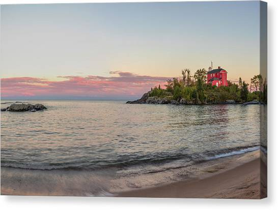 Marquette University Canvas Print - Panoramic Of The Marquette Harbor by Chuck Haney