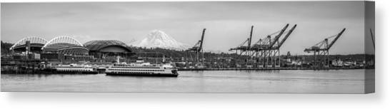 Seattle Mariners Canvas Print - Panoramic Seattle by Anthony J Wright