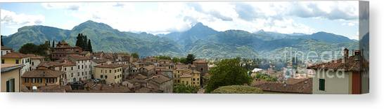 Panoramic View Barga And Apennines Italy Canvas Print