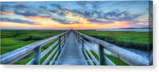 Panoramic View Bass Hole Boardwalk Canvas Print