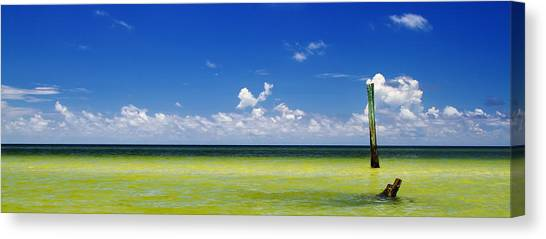Canvas Print - Panoramic View Of Boca Grande Beach by Fizzy Image