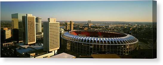 St. Louis Cardinals Canvas Print - Panoramic View Of Busch Stadium by Panoramic Images