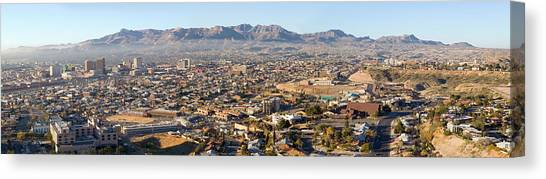 Landform Canvas Print - Panoramic View Of Skyline And Downtown by Panoramic Images