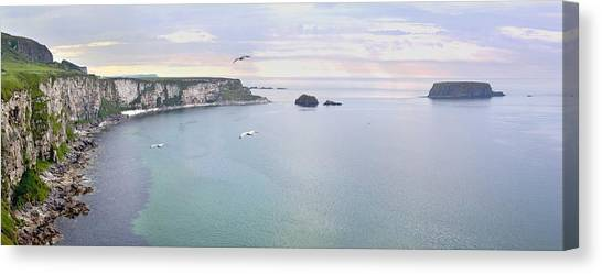 Canvas Print featuring the photograph Panoramic View Of The North Coast Of Northern Ireland by Georgi Djadjarov