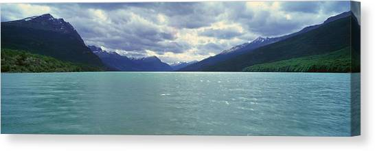 Andes Mountains Canvas Print - Panoramic View Of Ushuaia, Tierra Del by Panoramic Images