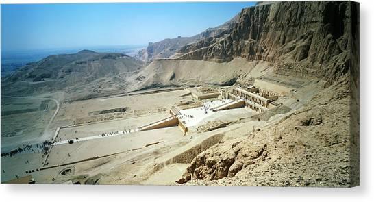 Egyptian Art Canvas Print - Panoramic View Over Hatschepsut Temple by Jakub Sliwa
