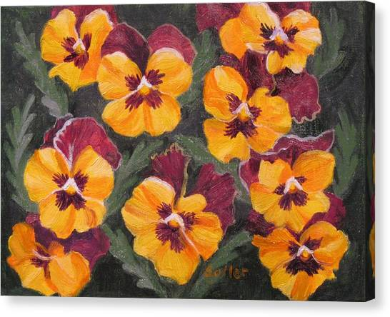 Pansies Are For Thoughts Canvas Print