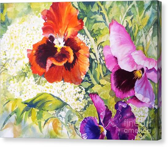 Pansies Delight #2 Canvas Print