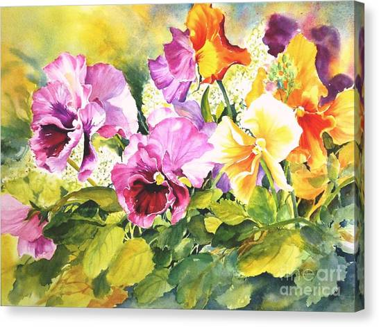 Pansies Delight #3 Canvas Print