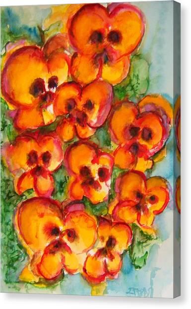 Pansies Love Us Canvas Print