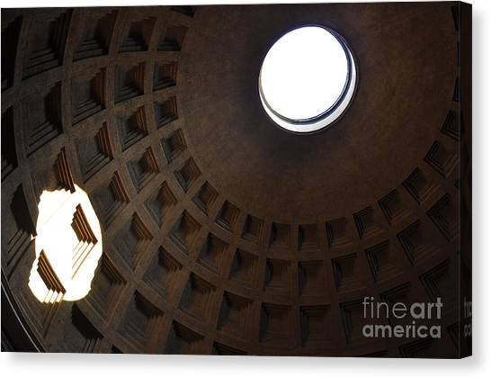 Pantheon Dome Canvas Print by Katie Fitzgerald