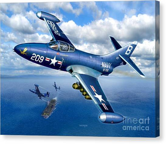 Panthers Canvas Print - Panther Heads Out by Stu Shepherd