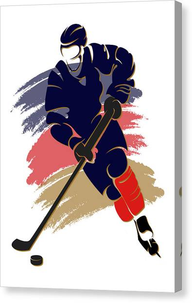 Florida Panthers Canvas Print - Panthers Shadow Player2 by Joe Hamilton