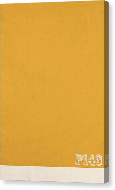 Mustard Canvas Print - Pantone 143 Mustard Yellow Color On Worn Canvas by Design Turnpike