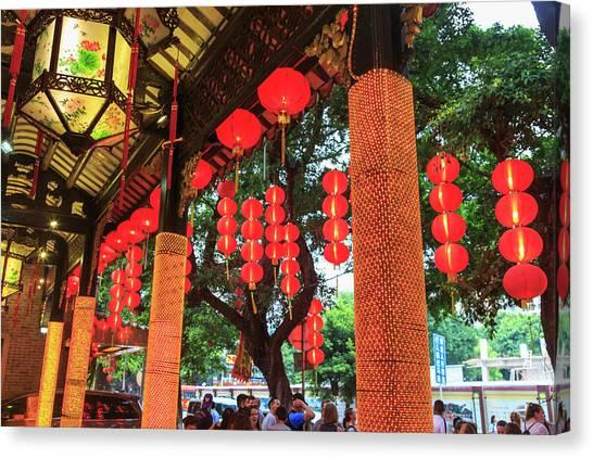 Chinese Restaurant Canvas Print - Panxi Restaurant, Lichi Bay, Guangzhou by Stuart Westmorland