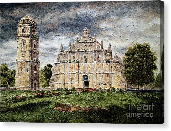 Paoay Church Canvas Print