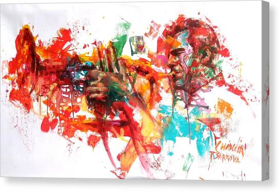 Wind Instruments Canvas Print - Paolo Fresu by Massimo Chioccia