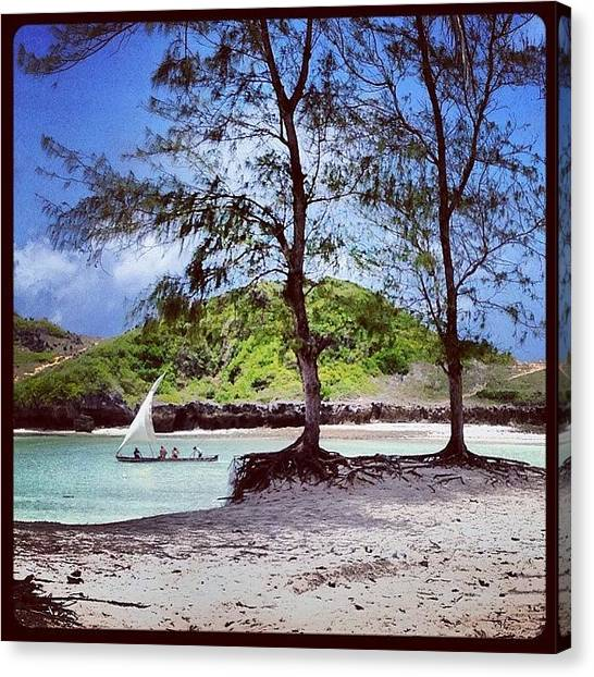 Kenyan Canvas Print - Paparemo Beach.☀️🏊 by Federico Senesi