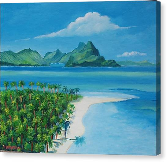 Papeete Bay In Tahiti Canvas Print