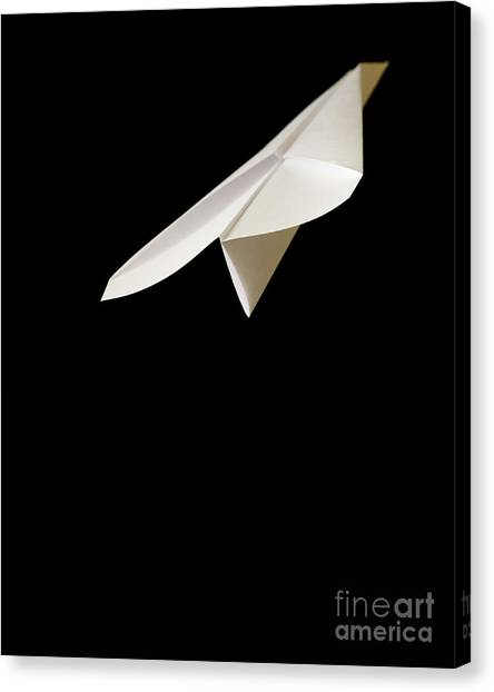 Toy Airplanes Canvas Print - Paper Airplane by Edward Fielding