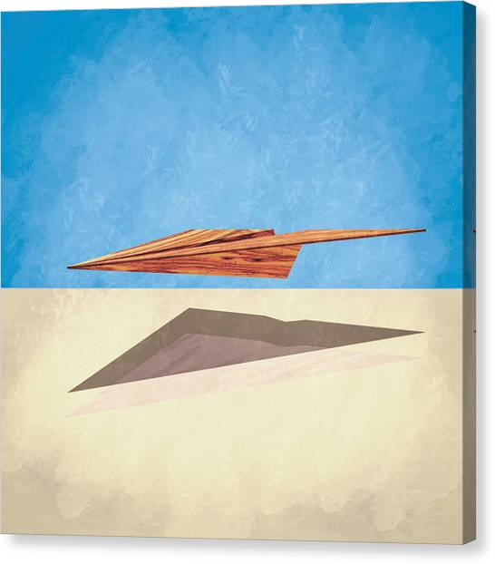 Toy Airplanes Canvas Print - Paper Airplanes Of Wood 14 by YoPedro
