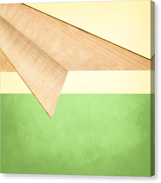 Toy Airplanes Canvas Print - Paper Airplanes Of Wood 17 by YoPedro