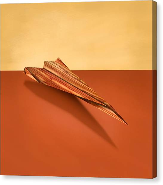 Toy Airplanes Canvas Print - Paper Airplanes Of Wood 4 by YoPedro